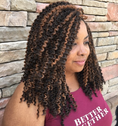 Kinky Curly Shoulder Length Sew In