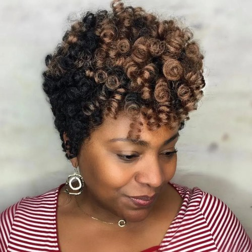 Short Curly Crocheted Hairstyle