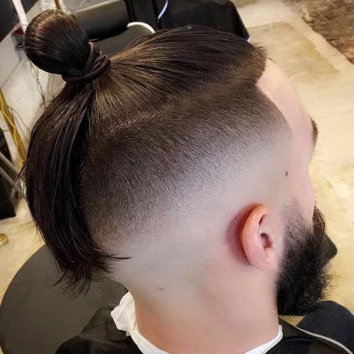 Asian Long Top Shaved Sides Hairstyle