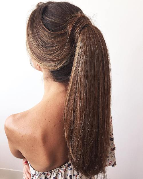 Sleek Ponytail For Long Thick Hair