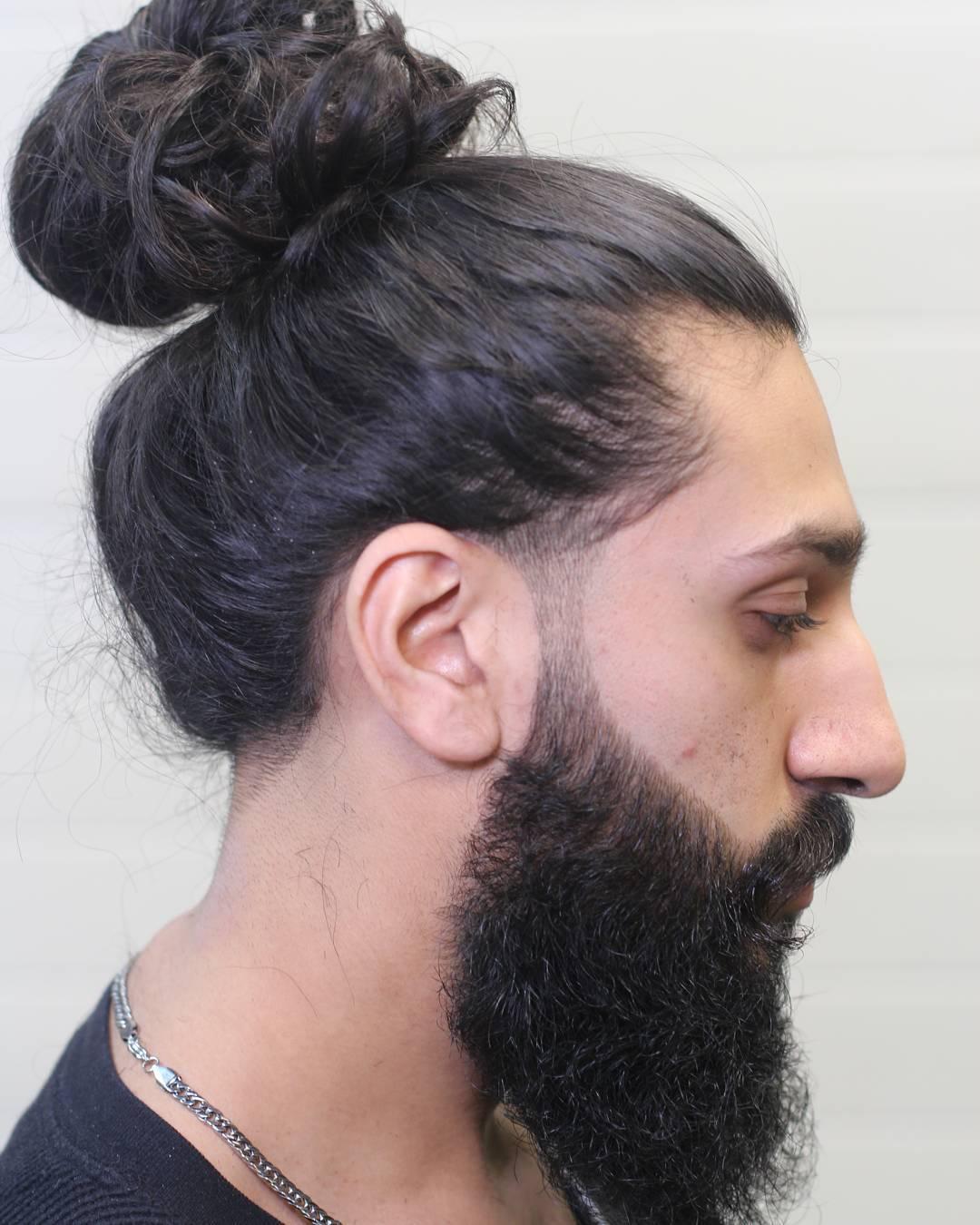 Man Bun For Long Hair