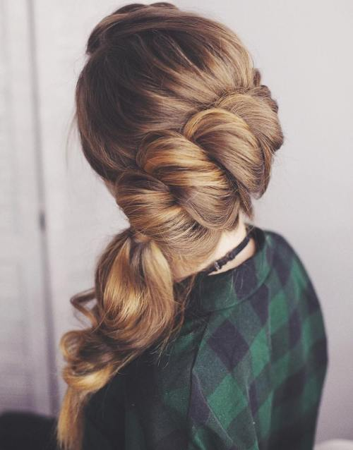 Twisted Updo With A Side Ponytail