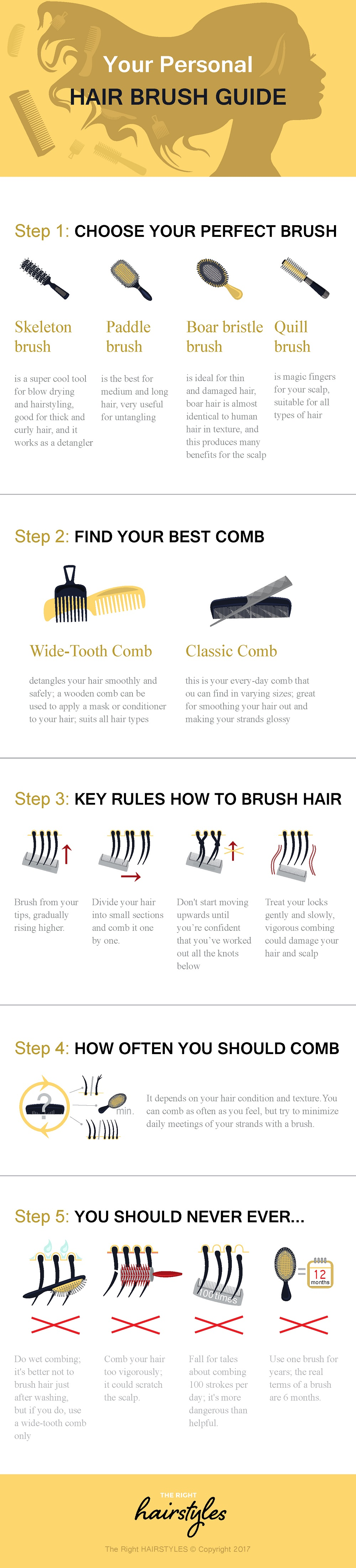 Your Personal Hair Brush Guide - Infographic
