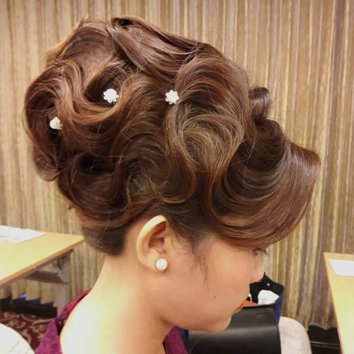 Beehive Updo With Finger Waves