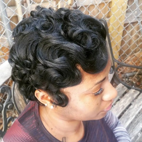 African American Finger Waves Short Hair