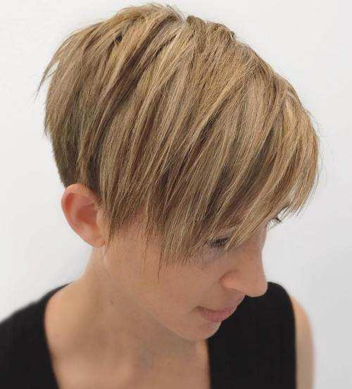 Feathered Pixie Cut With Undercut