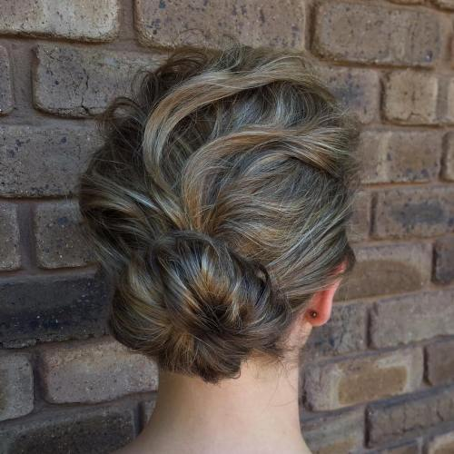 Low Sock Bun For Shorter Hair