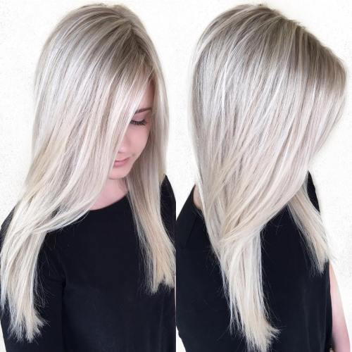 Long Ash Blonde Layers