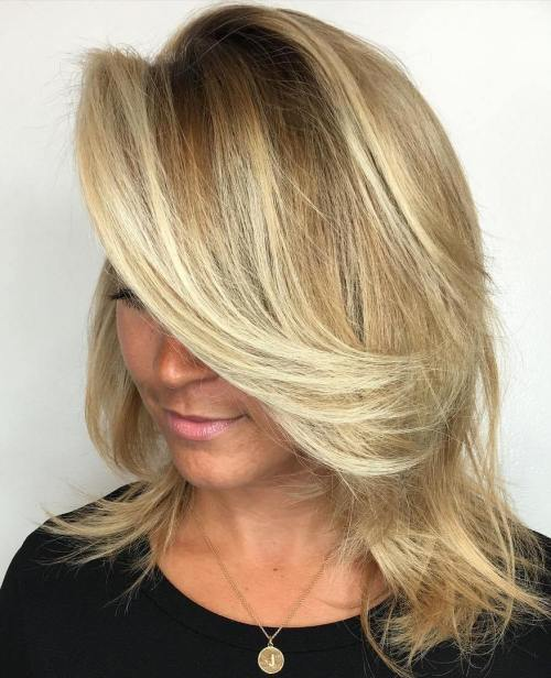 Medium Honey Blonde Hairstyle