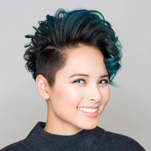Women's Short Asian Undercut Hairstyle