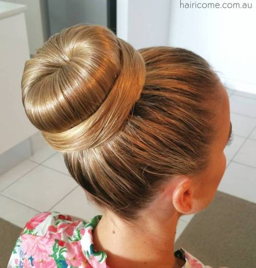 Sleek Sock Bun With A Wrap