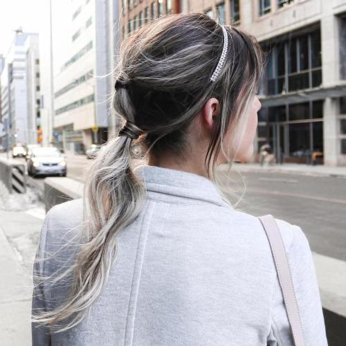 Messy Ponytail For Long Fine Hair