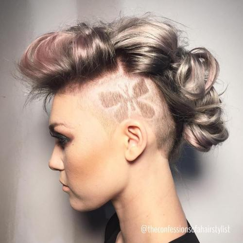 Mohawk Updo With Undershaves