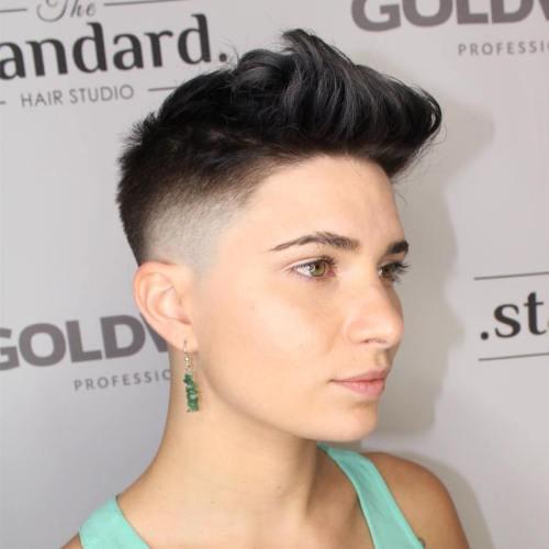 Very Short Undercut Haircut For Women