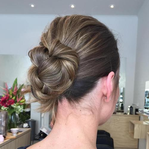 Casual Low Bun Updo