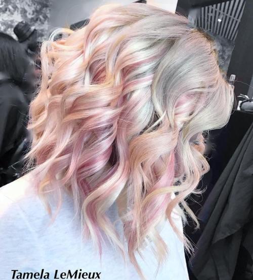 Pastel Curly Lob