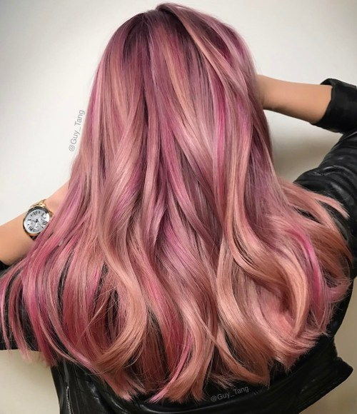 20 Rose Gold Hair Color Ideas + Tips How to Dye | Salon ...