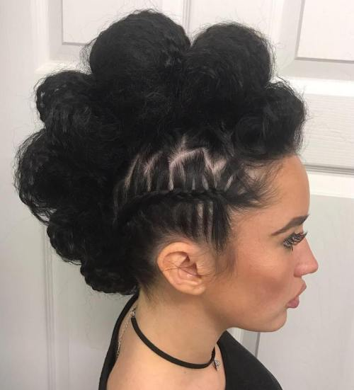 Bubbled Faux Hawk Hairstyle