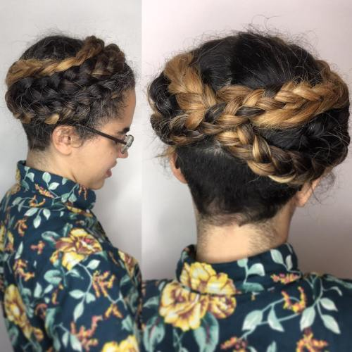 Braided Crown With Nape Undercut