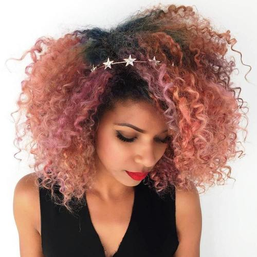 Rose Gold Corkscrew Curls
