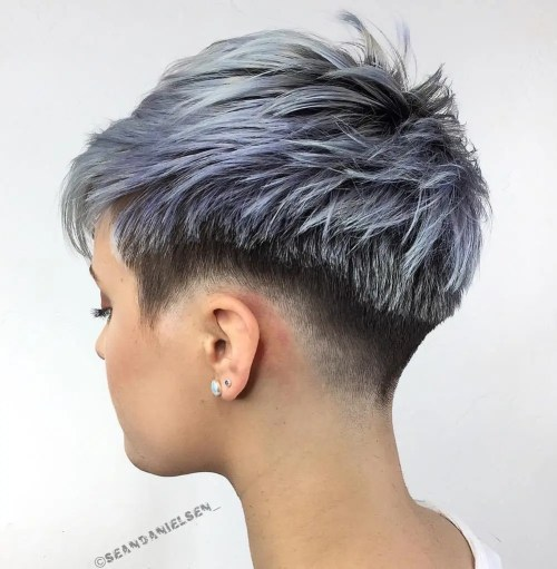 Choppy Taper Fade Pixie