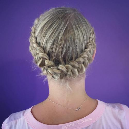 Dutch Headband Braid Updo