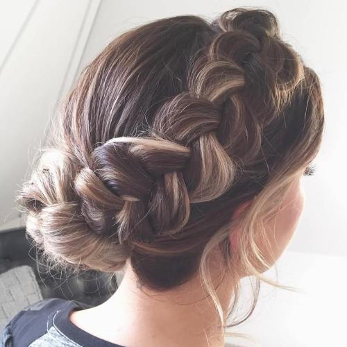 Messy Halo Braid For Long Hair