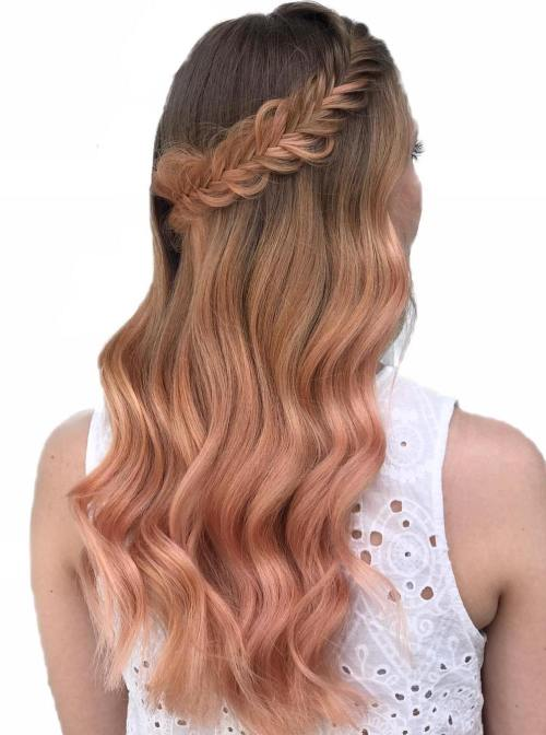 Rose Gold Waterfall