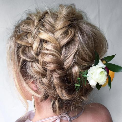 Two Headband Braids Updo