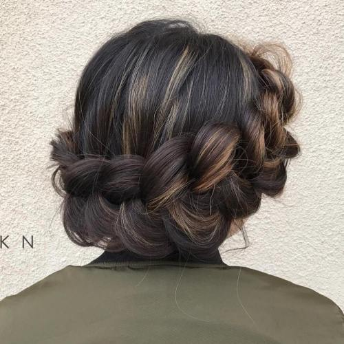 Voluminous Halo Braid Updo