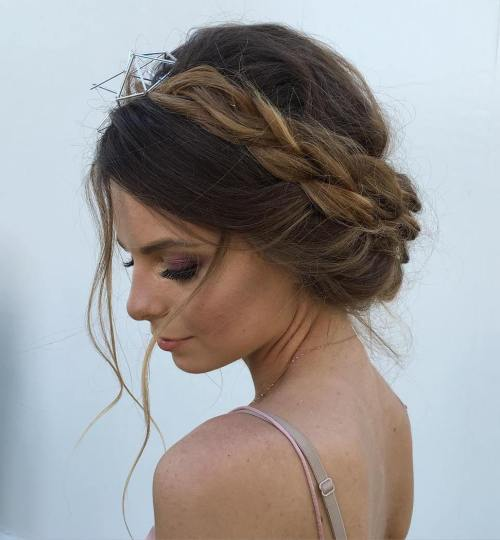 Messy Milkmaid Braid With A Bouffant