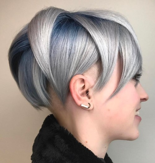 Pastel Blue Pixie Bob With Undershave