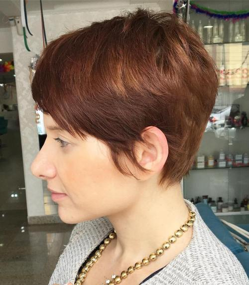 Auburn Pixie With Highlights