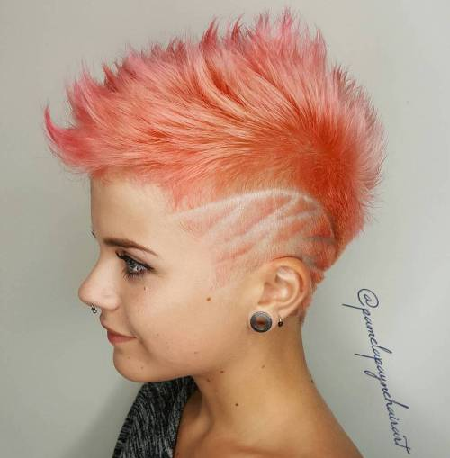 Pastell rosa Spiky Fauxhawk