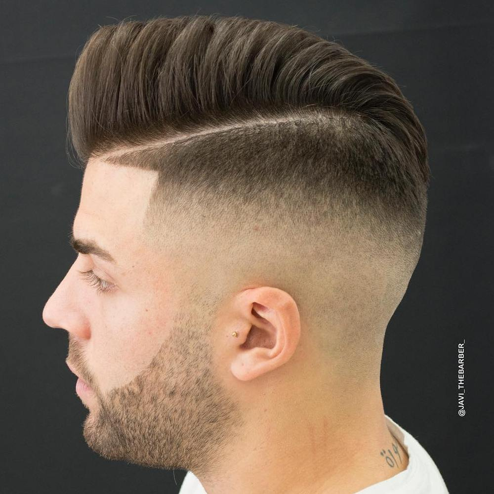 High Fade With Side Part And Line Up
