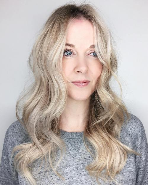 Long Pearl Blonde Waves