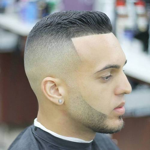 High Fade With Facial Hairstyle