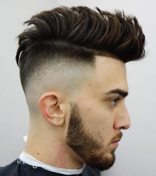 Spiky Haircut With High Fade