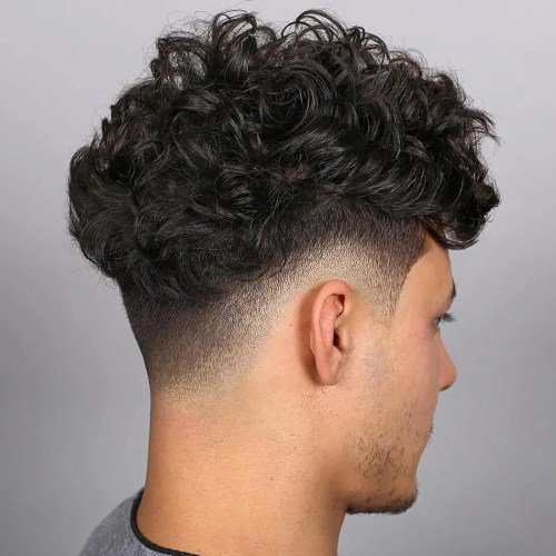 Curly Fade Undercut For Men