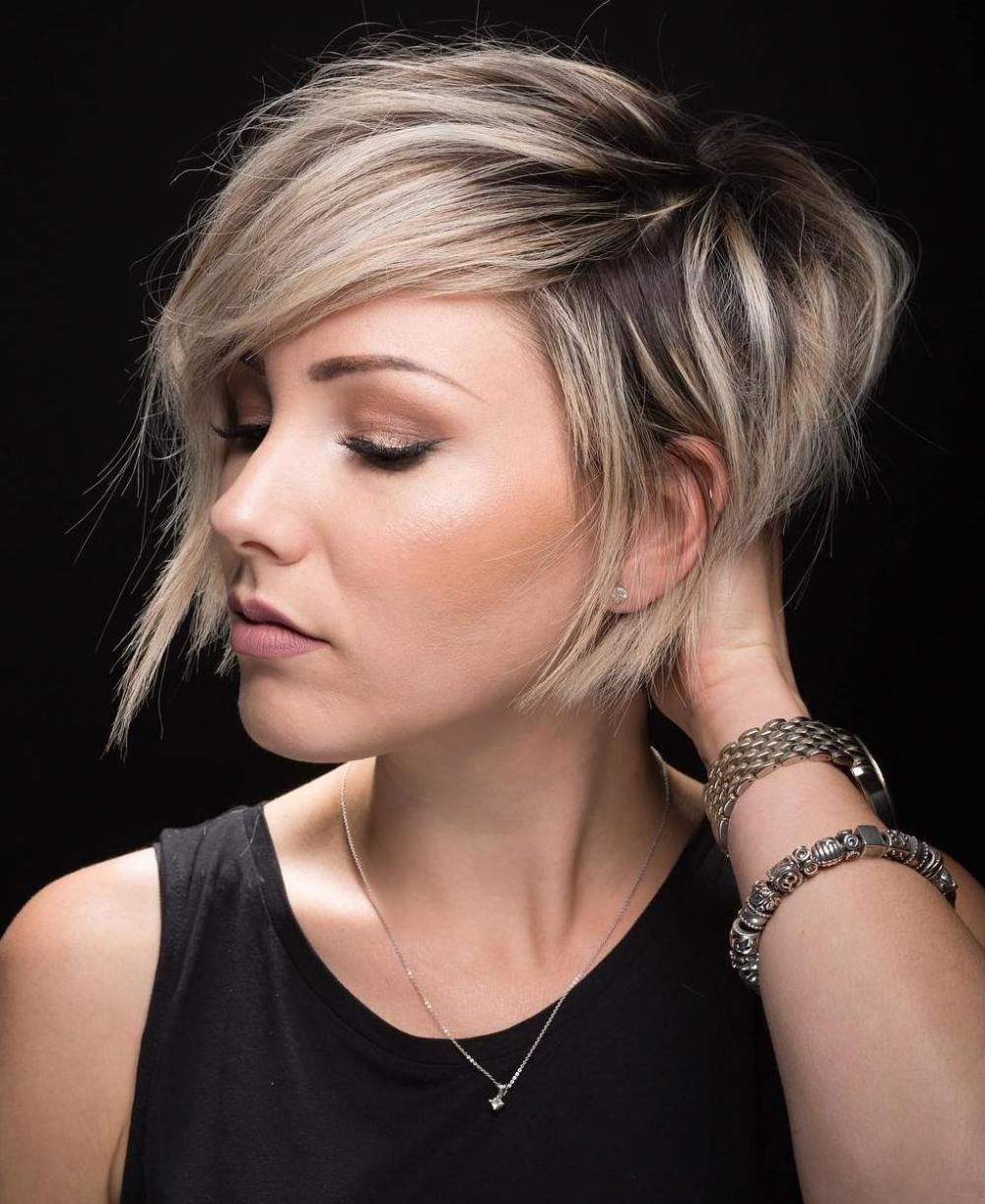 Long And Blonde Pixie Cut