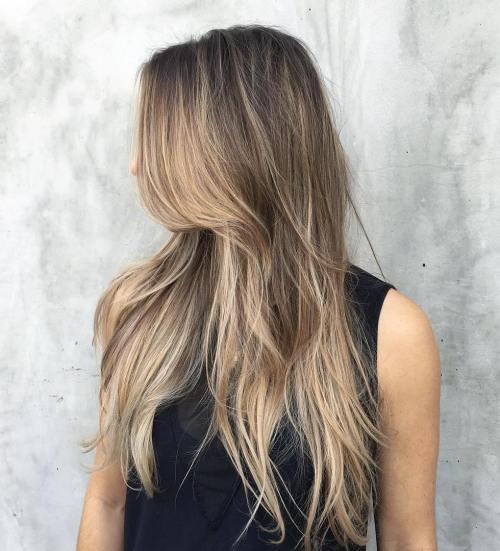 Razored Haircut For Long Hair