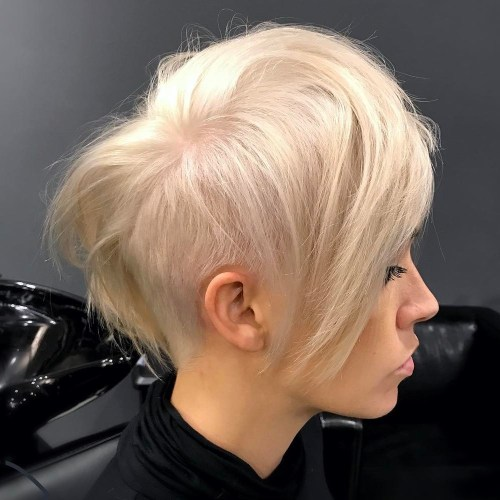 Long Asymmetrical Undercut Pixie