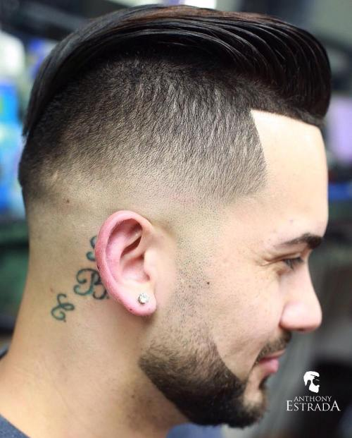 Long Top With Fade Undercut