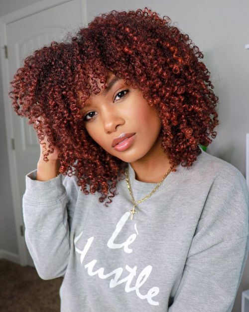 Women with 3C Type of Hair
