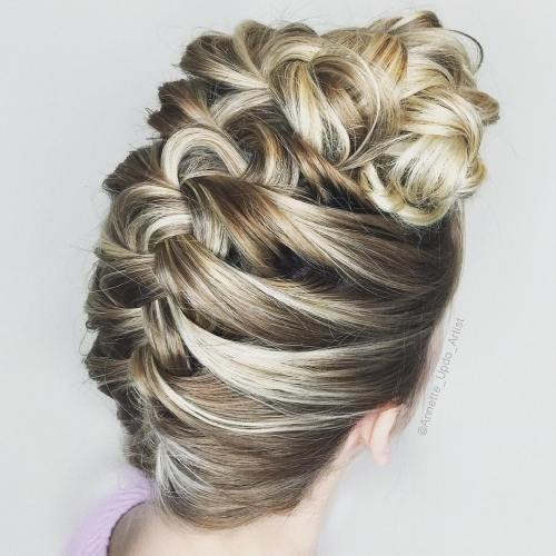 Upside Down Braid Updo
