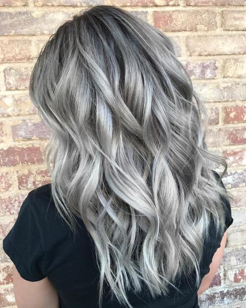 Silver Gray Waves