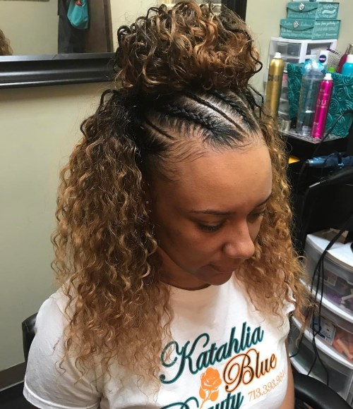 Sew In Medium Curly Hairstyle