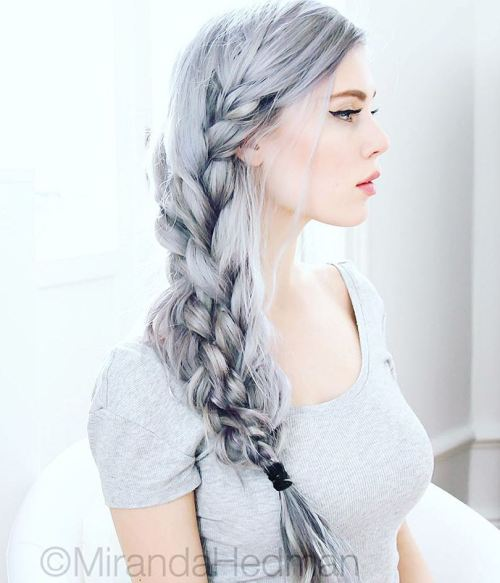 Side Silver Braids