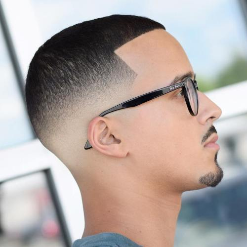 20 top mens fade haircuts that are trendy now short shadow fade with line up urmus Image collections