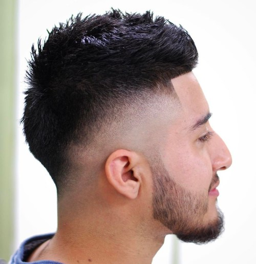 Spiky Haircut With Drop Fade